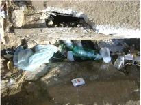 Toneladas de lixo foram jogadas nas ruas de ji-Paraná