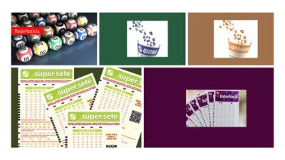 Loteria da Caixa - Resultados do sorteios da Quina, Lotomania e Super Sete