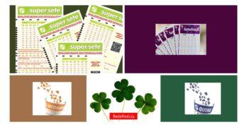 Loterias Resultados do sorteios da Quina, Lotofacil, Lotomania e Super Sete