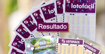 Último Resultado da Lotofacil