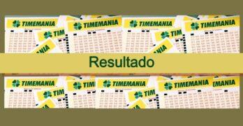 Últmo resultado da Timemania