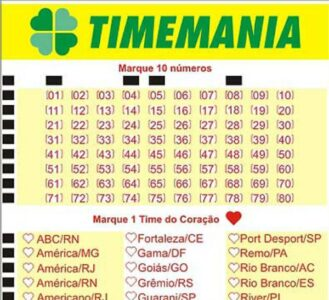 Resultado do Timemania