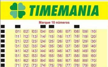 Resultado do Timemania